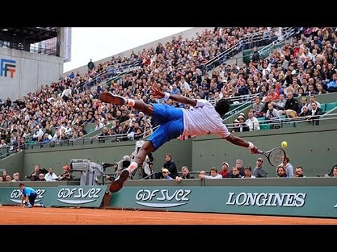 Top 15 Super Amazing Trick Shots in Pro Tennis